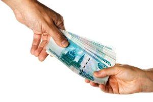 Передача денег в счет алиментов